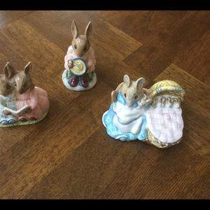 Royal Doulton and Royal Albert bunnies